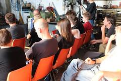 Law & Lore of the Sea 01 (Times Up Linz) Tags: migration symposium paneldiscussion sarahsander floatingvillages mindthemap possiblefutures alfredweidinger dorftv futurefabulators leoschatzl