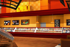 Interior Supermarket Design
