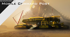 MOBILE COMMAD OUTPOST (Pierre E Fieschi) Tags: fiction art mobile giant pierre space science scifi vehicle concept base outpost tracked fieschi salvager pierree