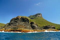 End View Mt Lidgbird - Lord Howe Island Circumnavigation (Black Diamond Images) Tags: mountains island boat paradise australia cliffs nsw boattrip circumnavigation lordhoweisland worldheritagearea thelastparadise circleislandboattour