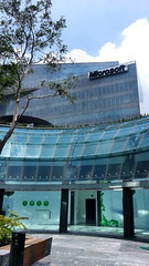 Corporativo Microsoft visto desde el Centro Comercial Garden Santa Fe (Santix_mx) Tags: city santafe mall underground mexico df shoppingcenter centrocomercial delegacin subterrneo lvaroobregn kmdarchitects gardensantafe santixruizdech santiagoruizdechavez santixmx