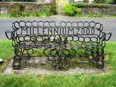 Blisland Millennium 2000 Horseshoe Bench (Stuart Axe) Tags: uk greatbritain england bench chair cornwall 2000 unitedkingdom seat millennium gb horseshoe parkbench horseshoes blisland