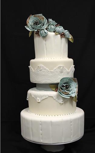 Fabric Flowers Headband Insp. Wedding Cake