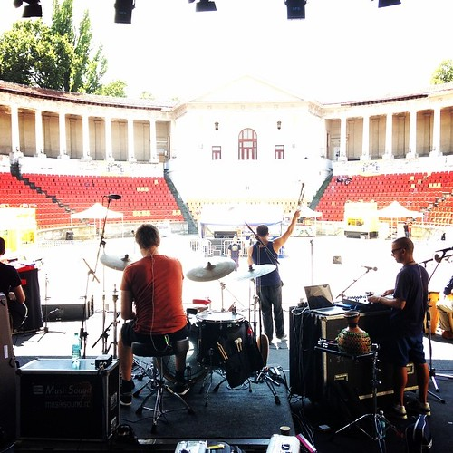 Soundcheck in Bucharest. Tonight is going to be fun! #itshot #tcedoeuro #andietheroadie