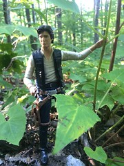 Han On Kashyyyk, Waiting For  Chewbacca. (chevy2who) Tags: 6 black toy death star starwars inch action solo figure series six han hasbro the starwarsblack starwarsblackseries