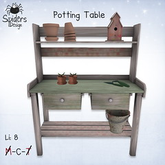 Potting Table (Spinnetje Jewell) Tags: summer garden birdhouse secondlife pottingtable spidersdesign