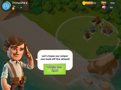 Boom Beach Tutorial: screenshots, UI