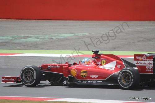 Fernando Alonso during The 2014 British Grand Prix