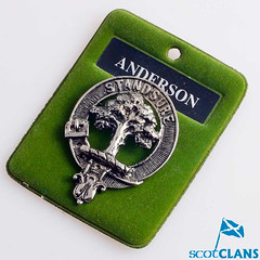 Anderson Clan Crest Cap Badge