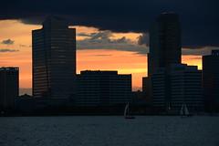 ([Yifu]ography) Tags: nyc sunset sky newyork skyline clouds river nikon hudsonriver d800 sunkiss nikonflickraward