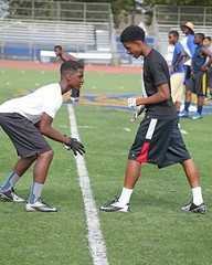 D106874A (RobHelfman) Tags: sports losangeles football highschool practice crenshaw seandavis justinwhitaker