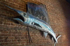 Swordfish (quinn.anya) Tags: sculpture brick metal wall berkeley thalassa swordfish