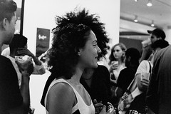 DIY or DIE! Event (slightheadache) Tags: newyorkcity blackandwhite bw newyork records art film dark diy milk stencil punk chelsea pentax handmade manhattan grain exhibition 1600 lp pentaxk1000 grainy reggae neopan1600 recordcovers dub ep artopening expiredfilm milkgallery diyordie boohooraygallery boohooray diyordieevent