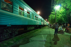 Train from Aktau to Kungrad