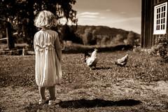 Jamtli 2 (JKonradsen Photography) Tags: old travel blackandwhite bw girl museum sepia vintage sweden farm jamtli stersund jkonradsen