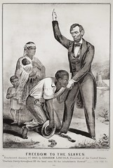 """""""Freedom to the Slaves""""  by Currier & Ives, after Anthony Berger. Lithograph (c. 1864-65) (lhboudreau) Tags: civilwar americancivilwar image view lithograph lithography emancipationproclamation 1863 january11863 abrahamlincoln lincoln lincolnsemancipationproclamation gilmanrrussell freedom historicedict print decorativeprint declarationoffreedom slaves slavery negroslaves negrofamily freedomtoslaves currierives anthonyberger freedomtotheslaves shackles presidentlincoln blackwhite monochrome liberty race"""