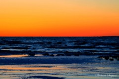 Sunset Over Lake Ontario II (barbarasimpson_photography) Tags: lakeontario sunsets blue orange red calm tranquil water sky portdalhousie ontario canada