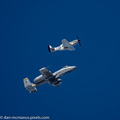 Heritage Flight practice session (Kukui Photography) Tags: a10 thunderbolt ii davis monthan afb heritage flight practice p51 mustang airplane arizona tucson aircraft a10thunderboltii davismonthanafb heritageflightpractice p51mustang