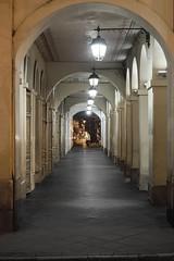 Túnel del tiempo (sergioguerrero4) Tags: postes lights corredor corridor pasaje history antique door tree