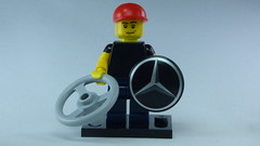 Brick Yourself Bespoke Custom Lego Figure Mercedes Truck Driver