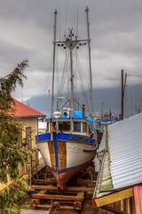Stillwater Bay (Paul Rioux) Tags: cowichan bay marine marina waterfront fishboat trawler stillwaterbay drydock slip ways outdoor vessel prioux