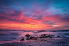 Hiddensee (vdbist) Tags: insel hiddensee strand steine sonnenuntergang ostsee wind wellen himmel mecklenburg vorpommern rot blau