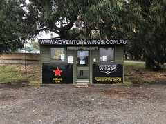 Adventure Wings (Peter.Bartlett) Tags: tooradin victoria australia iphone7 cellphone mobilephone shop facade signs airport hut snapseed urban landscape