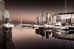 Early Morning Docklands (Leanne Cole) Tags: landscape focusaustralia aussiephotos artlimited victoria australia melbournetouristguide melbourne igdiscoveraustralia docklandsmelb docklands nikonaustralia reflections yarrariver morning cityscape wowaustralia2017