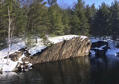 Saratoga County Adirondack Dams and Rivers (ArgyleMJH) Tags: geology faulting fault scarp precambrian proterozoic gneiss metamorphic rocks adirondack sacandagariver stewartsdam stewartsbridgereservoir hadley saratogacounty newyork adirondackpark adirondackmountains