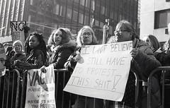 NYC Street Photography February 2017 (BonePaint) Tags: nikon fm nikkor 28mm f28 ais kodak trix 400 pushed 1600 35mm blackwhite analog film developed 11 d76 scanned epson v550 nyc street photography february 2017 womens march