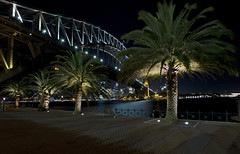 Sydney Harbour Bridge... (A R I A) Tags: sydney australia sydneyharbourbridge bridge hourbour night noflash flickr canon 5dmkiii photographer palm palmtrees tree landscape