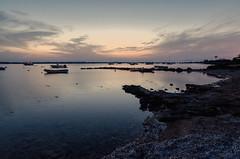 Estany des Peix (Miguel Martin Ibiza) Tags: formentera nikon 14mm estanydespeix bluehour skyporn clouds clam boats sunset