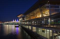 Convention Centre (Clayton Perry Photoworks) Tags: vancouver bc canada spring explorebc explorecanada skyline night light conventioncentre