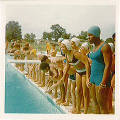 Water Carnival at the swimming pool, Summer 1969