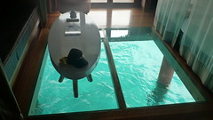 Le Meredien, glass floor in bungalow- bora bora (louisebaer) Tags: tahiti glassfloor lemeredien overwater bungalow
