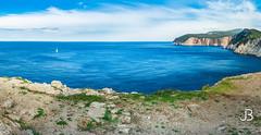 Panoramic view in Lefkada Island, Greece (JanBures_com) Tags: sea beach greece lefkada island blue water holiday lefkas panoramic panorama panoramatic sunny ngc