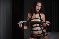 Dominatrix Model (lilbitrisque) Tags: model modeling pose posing brunette tall thin sexy sexiness hot hotty hottie babe gorgeous lovely beautiful kinky naughty mistressraven mistress lingerie tits breasts boobs pussy vagina bed bedroom erotic dominatrix bdsm