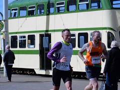 Blackpool Marathon (deltrems) Tags: blackpool lancashire fylde coast promenade marathon 10k half people men women tram transport