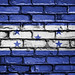 National Flag of Honduras on a Brick Wall