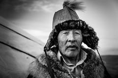 .Soltanbai. (Shirren Lim) Tags: portrait mongolia winter eaglehunter tribe monochrome landscape