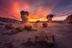 The Olympic Torch - 5560 (J & W Photography) Tags: 2016 americansouthwest arizona december jwphotography november studhorsepoint autumn bedding cloud clouds hoodoos landscape latefall mountains nature rocks sandstones southwest structure sunset texture valleyandridge wilderness