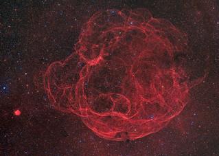 The Spaghetti Nebula, SH2-240, in high resolution