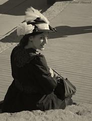 Portrait (Natali Antonovich) Tags: sunnybarcelona barcelona catalonia spain portrait lifestyle tradition monochrome hatisalwaysfashionable hat hats mood stare