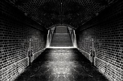 Exit (Martin Snicer Photography) Tags: exit tunnel blackandwhite monochrome bw haunted abandoned creative artistic dark creepy scary