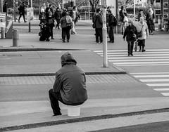 Public Business (CoolMcFlash) Tags: candid street streetphotography vienna person bnw bw blackandwhite fujifilm xt2 sitting waiting people strase wien blackwhite sw schwarzweis warten sitzen personen fotografie photography bucket kübel xf 18135mm f3556r lm ois wr