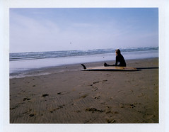 (Matt Chalky Smith) Tags: roidweek perranporth longboarder fuji100c speedgraphic surf surfer