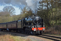 LMS No.46100 'Royal Scot' southbound at Green End [NYMR] on 26th March 2017 (soberhill) Tags: northyorkshiremoorsrailway nymr lms 46100 royalscot grosmont pickering railway steam train locomotive greenend 2017