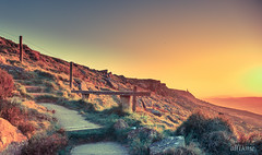 40th step (al(l)one) Tags: sunset moor splittone split tone sun canon 5diii yorkshire seat bench valley rocks