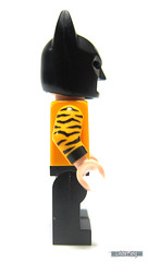 Side view of Tiger Tuxedo Batman (WhiteFang (Eurobricks)) Tags: lego batman movie review polybag cat costume tuxedo print pod case suit outfit colour colourful coat hero superhero dc comic