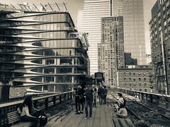 IMG_6544 (kz1000ps) Tags: newyorkcity nyc manhattan architecture urbanism cityscape splittone chelsea highline park elevated railroad zahahadid